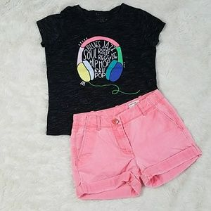 Crewcuts neon shorts Cat+Jack music tee outfit 7
